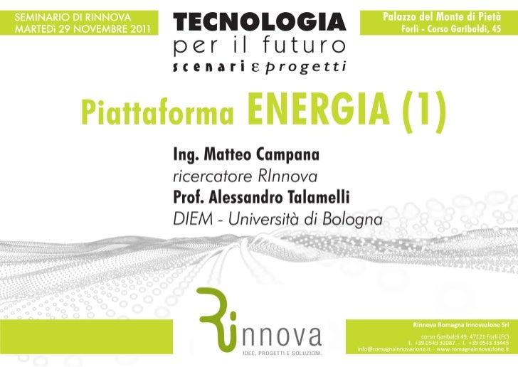 Piattaforma Energia (1 parte)