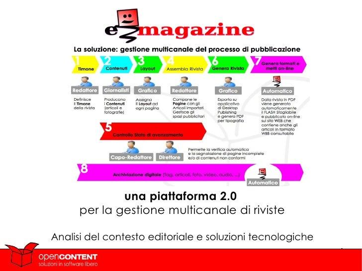 una piattaforma 2.0  per la gestione multicanale di riviste Analisi del contesto editoriale e soluzioni tecnologiche