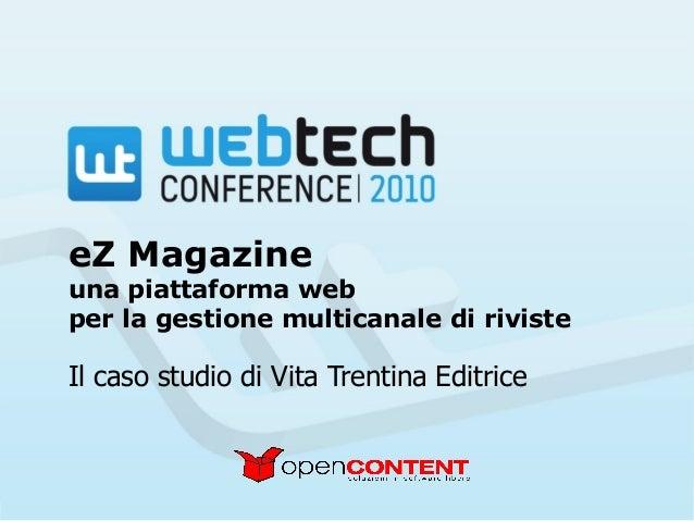 eZ magazine a Webtech
