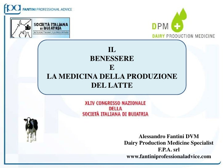 L'Informatore Agrario Fiegragricola 2012 - IL BENESSERE E LA MEDICINA DELLA PRODUZIONE DEL LATTE