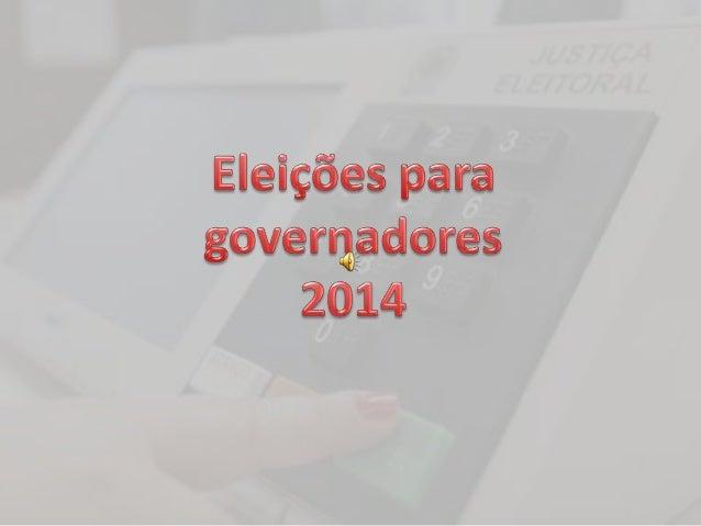 As eleições para governador do Rio  de Janeiro ocorrem no dia 5 de  outubro (primeiro turno) e 26 de  outubro( segundo tur...
