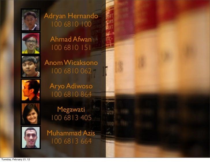 Adryan Hernando                            100 6810 100                            Ahmad Afwan                            ...