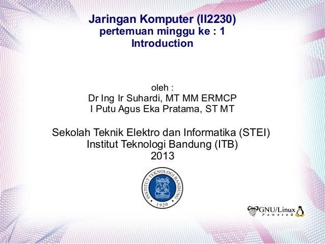 Slide Jaringan Komputer ITB pertemuan 1