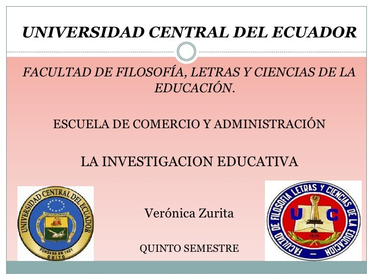 Investigación educativa por Verónica Zurita