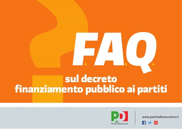 FAQ Abolizione finanziamento pubblico ai partiti