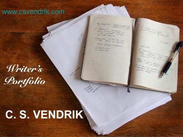 C. S. Vendrik Writer's Portofolio