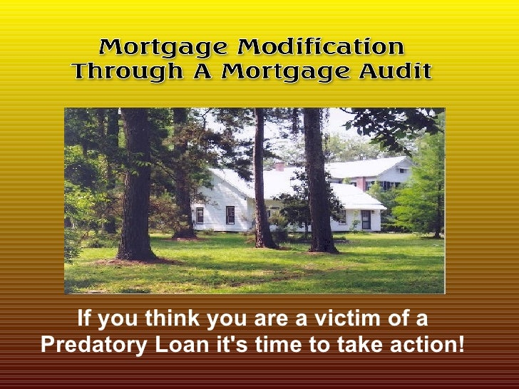 If you think you are a victim of a Predatory Loan it's time to take action!