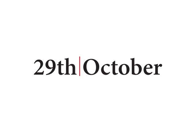 29th| October