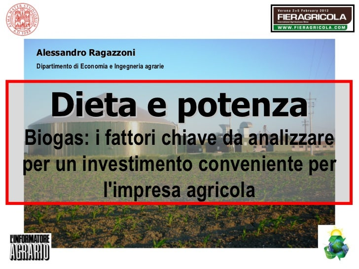 Dieta e potenza. Biogas: i fattori chiave da analizzare per un investimento conveniente per l'impresa agricola