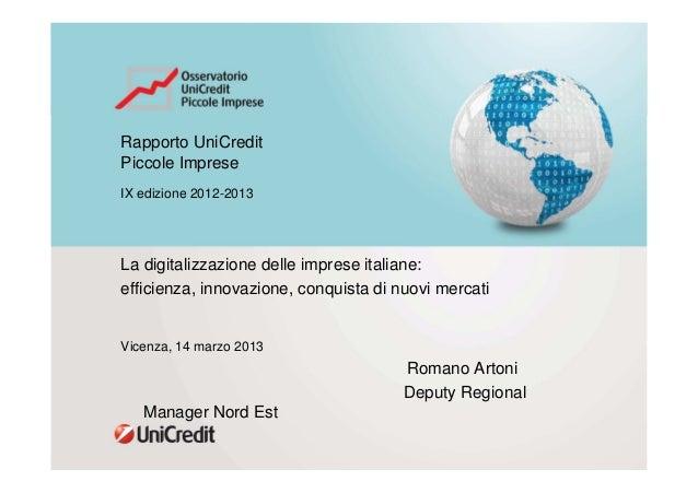 La digitalizzazione delle imprese italiane: efficienza, innovazione, conquista di nuovi mercati