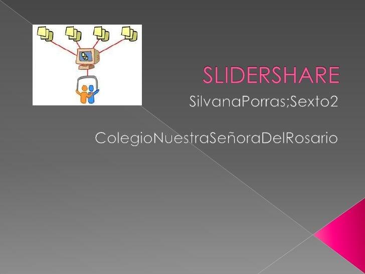  Aplicación web donde se puedem  almacenar presentaciones de  diapositvas Slidershare comparte presentaciones