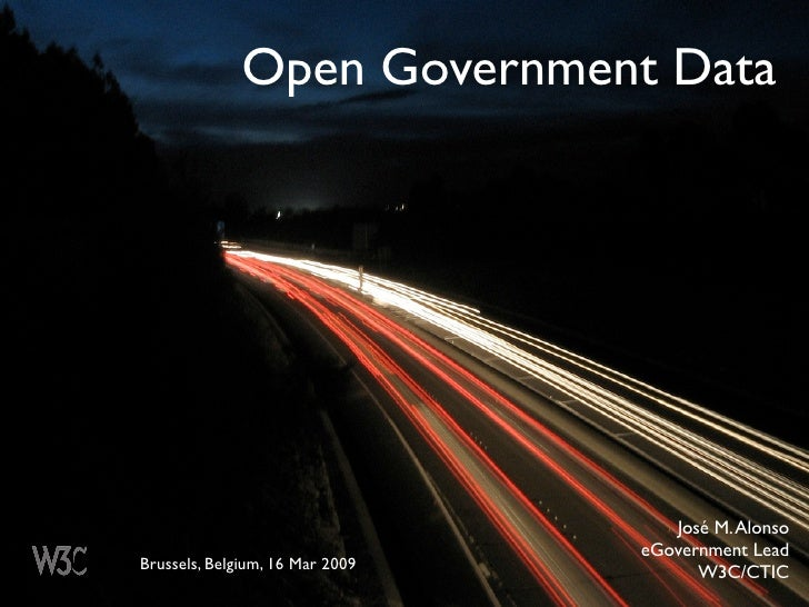 Open Government Data                                         José M. Alonso                                  eGovernment L...