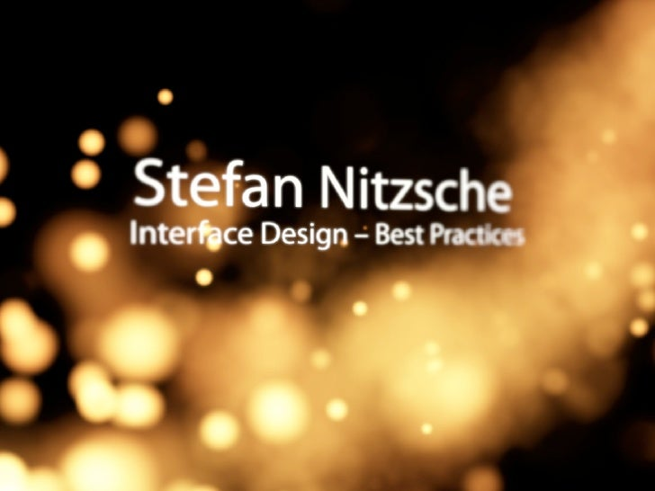 Interface Design – Best Practices