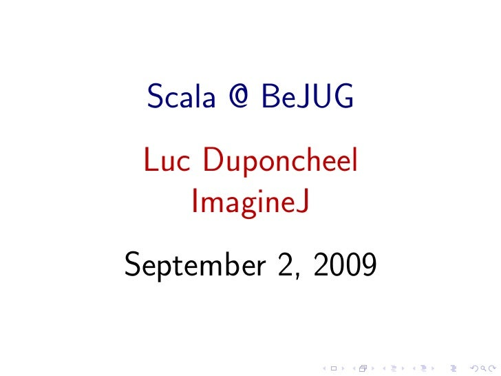 Scala by Luc Duponcheel