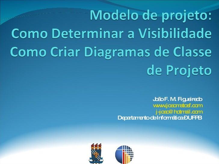 João F. M. Figueiredo www.joaomatosf.com [email_address] Departamento de Informática – UFPB