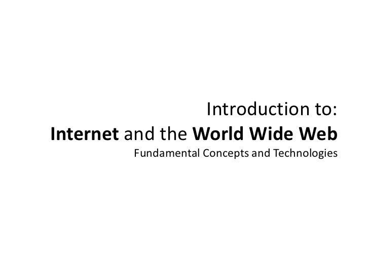 Slides 1 - Internet and Web