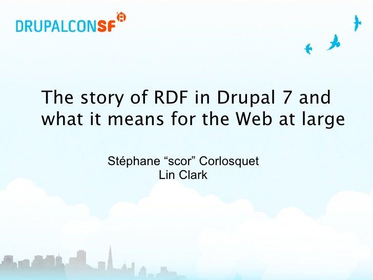 RDF presentation at DrupalCon San Francisco 2010