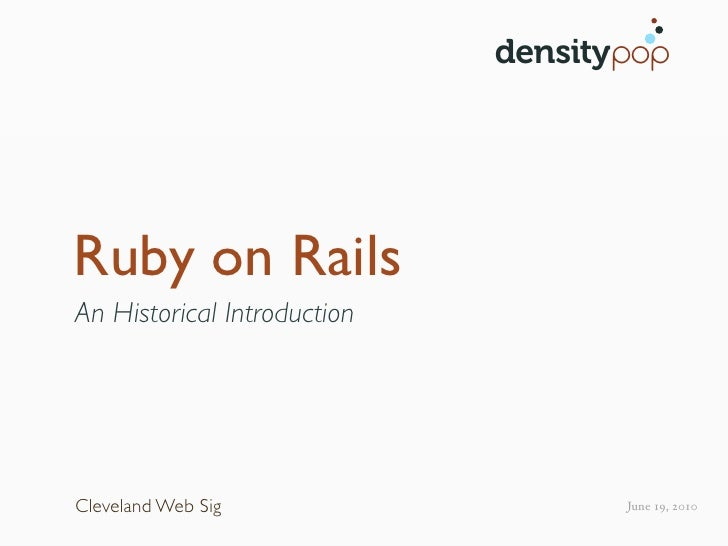 An Introduction to Ruby on Rails
