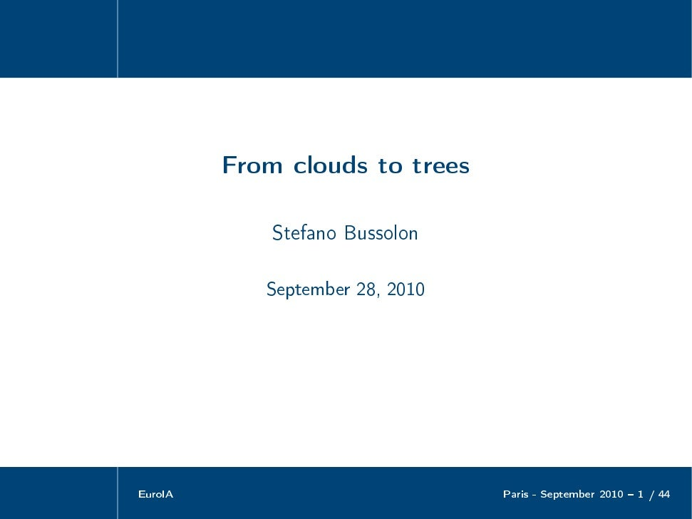 From Clouds to Trees: Clustering Delicious Tags