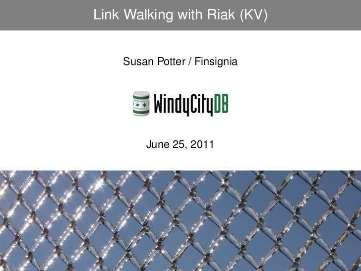 Link Walking with Riak