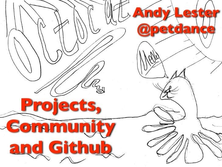 Community and Github: 7/27/2011