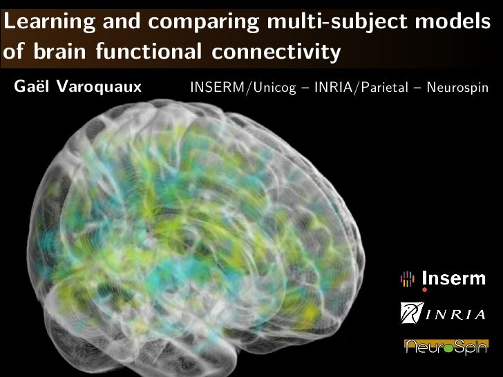 Learning and comparing multi-subject models of brain functional connecitivity
