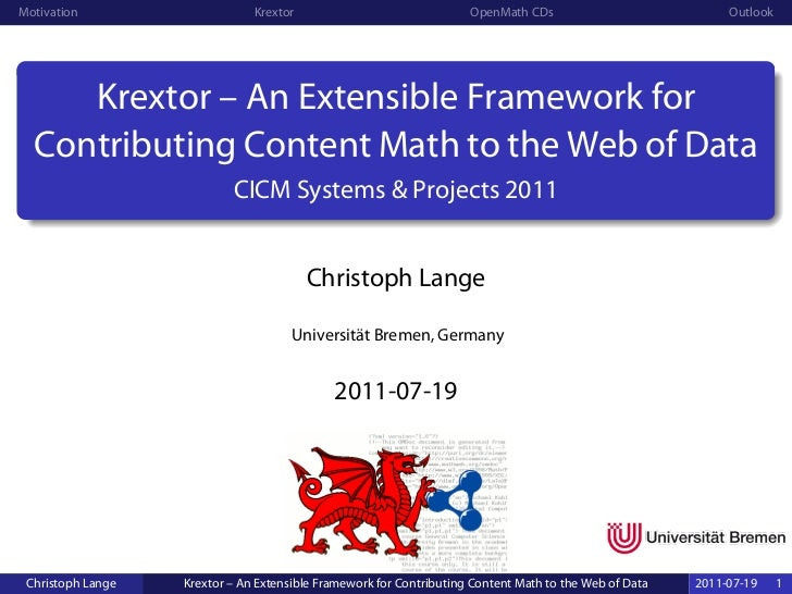 Krextor – An Extensible Framework for Contributing Content Math to the Web of Data