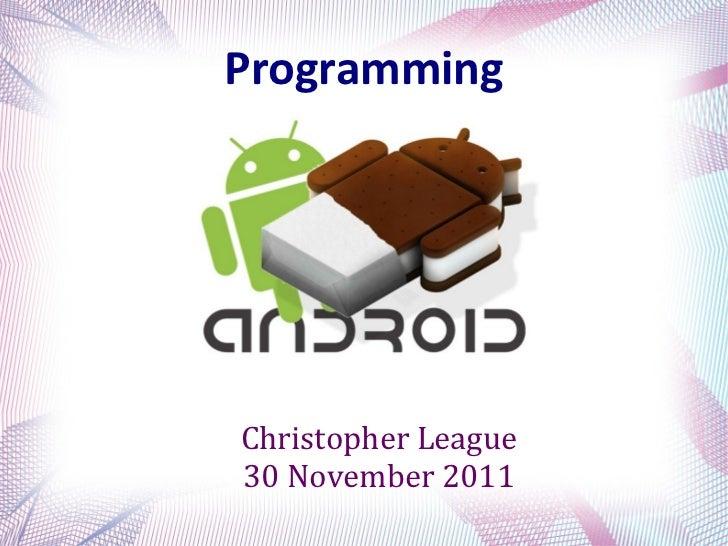 ProgrammingChristopher League30 November 2011