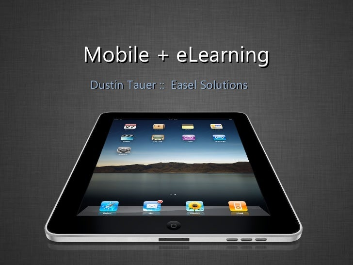 eLearning and Mobile