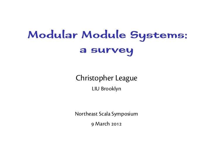 Modular Module Systems