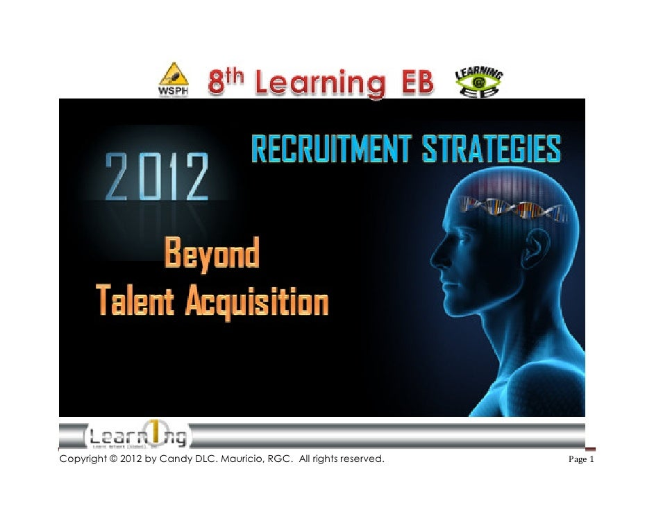 2012 Recruitment Strategies