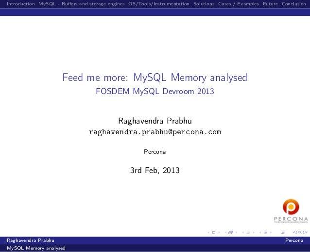 Feed me more: MySQL Memory analysed