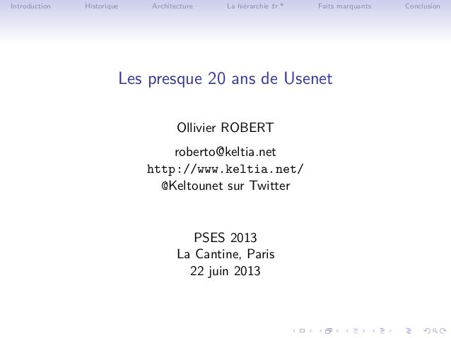 Les [presque] 20 ans de Usenet