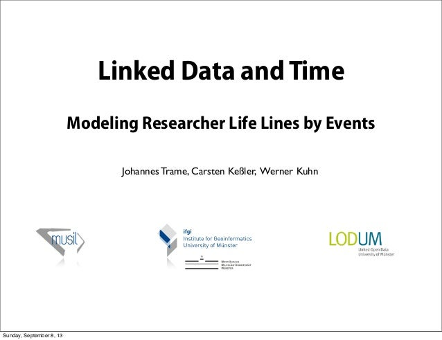 Linked Data and Time – Modeling Researcher Life Lines by Events