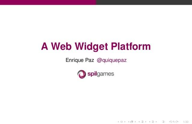 A Widget Based Web Platform