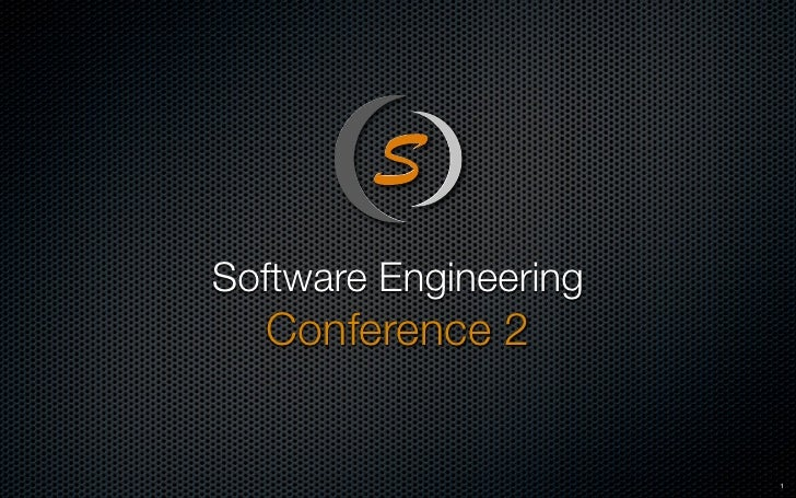 Software Engineering   Conference 2                          1
