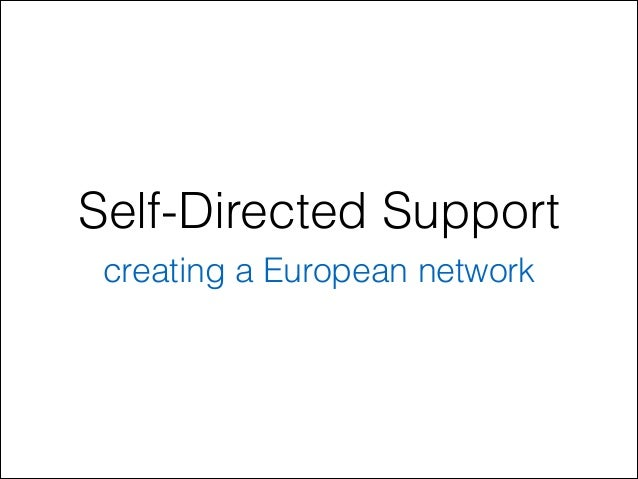 Self-Directed Support creating a European network
