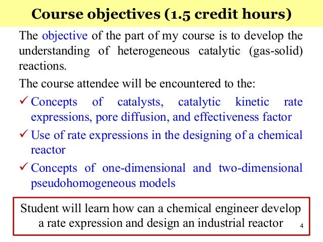 Chemical Engineering courses credit