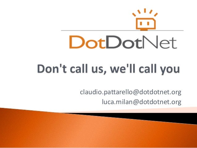 """""""Don't call us, we'll call you"""" - AngularJS meets Event-Driven Architecture"""