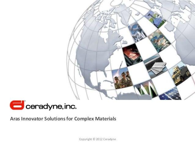 Ceradyne and Aras PLM Software for Complex Materials