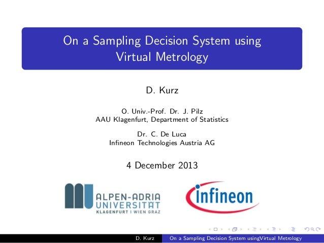 On a Sampling Decision System using Virtual Metrology