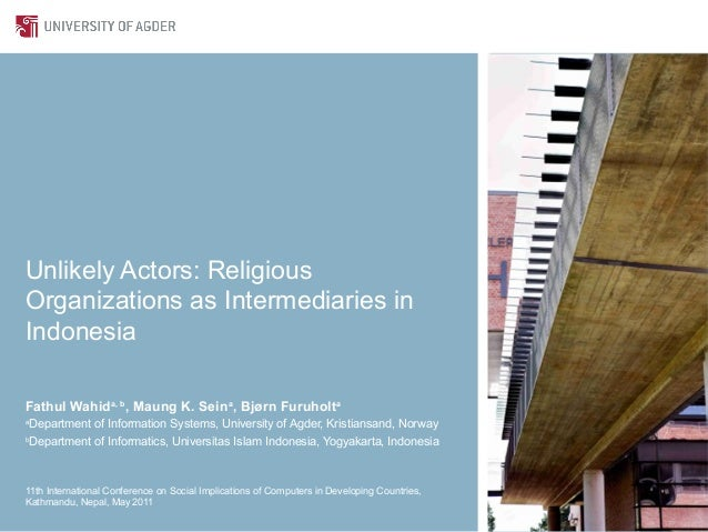Unlikely Actors: Religious Organizations as Intermediaries in Indonesia