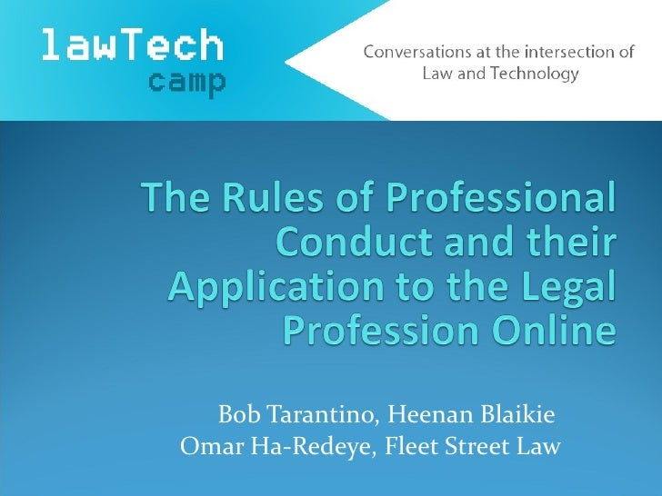 LawTechCamp - Rules of Professional Conduct