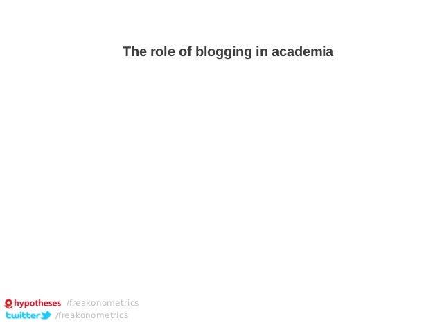 The role of blogging in academia  /freakonometrics /freakonometrics