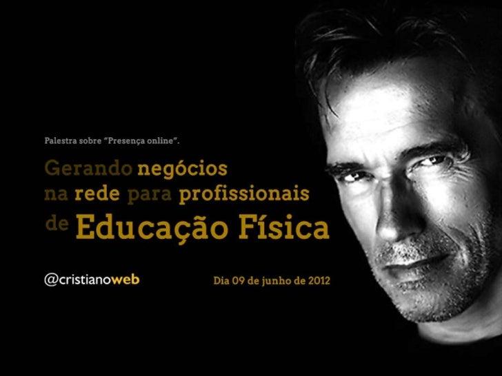 Palestra de Presença online no 7º Congresso Carioca de Educação Física