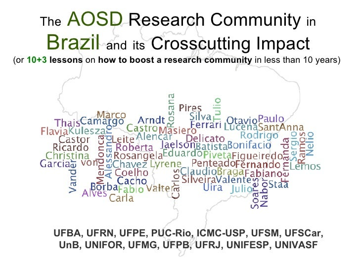 The AOSD Research Community in Brazil and  its Crosscutting Impact