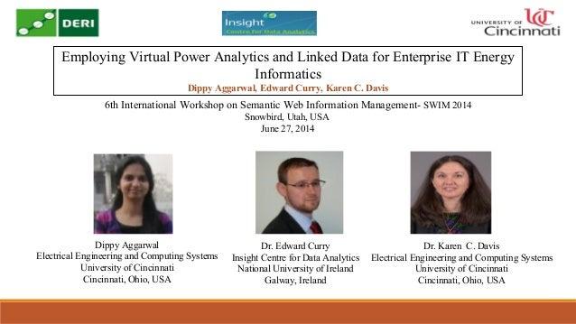 Employing Virtual Power Analytics and Linked Data for Enterprise IT Energy Informatics Dippy Aggarwal, Edward Curry, Karen...
