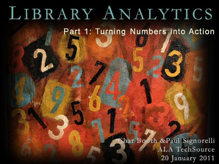 Library Analytics with Char Booth and Paul Signorelli, Session 1 Part 1