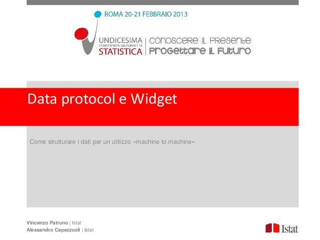 Data protocol e Widget