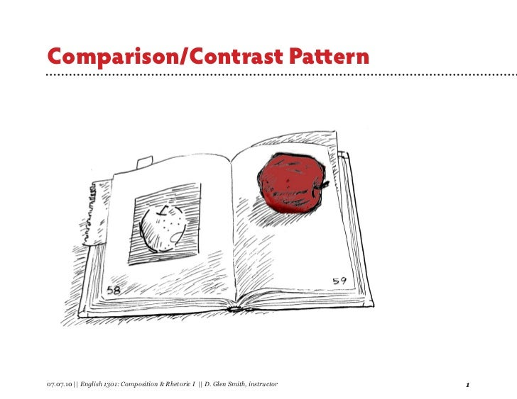 Comparison/Contrast Pattern07.07.10 || English 1301: Composition & Rhetoric I || D. Glen Smith, instructor   1